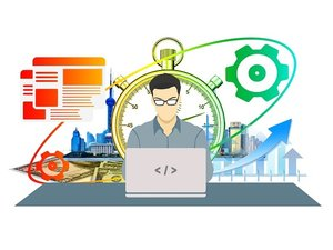 programmer at work illustration